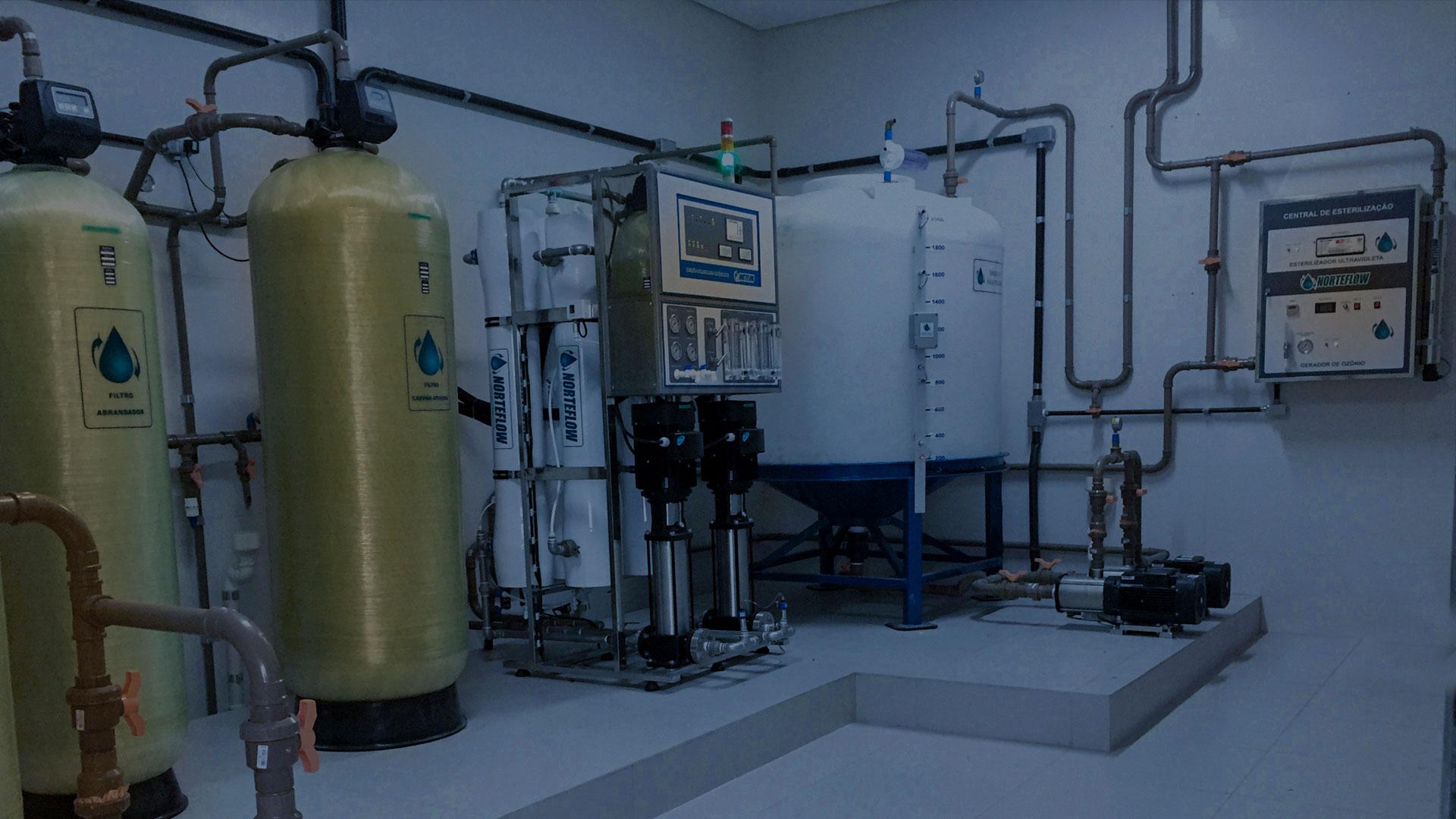 tratamento de água e engenharia clínica