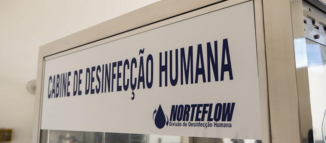 cabine de desinfecção humana